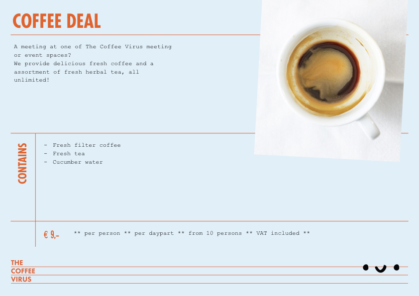 Catering card coffee deal